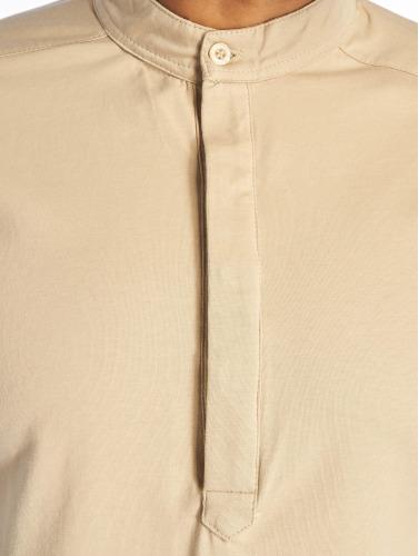 Cavallo de Ferro Hombres Camiseta de manga larga Big Logo in beis