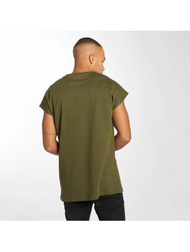 Cavallo de Ferro Hombres Camiseta Bat Sleeve in oliva