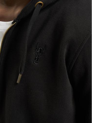 Cavallo de Ferro Hombres Sudaderas con cremallera Big Logo in negro
