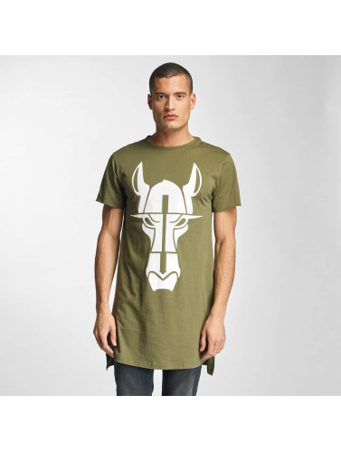 Cavallo de Ferro Herren Tall Tees Streets Long in olive