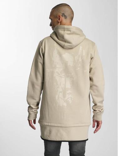 Cavallo de Ferro Herren Zip Hoodie Big Logo in beige