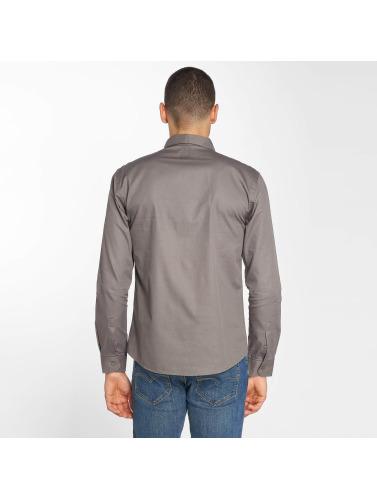 Cazzy Clang Hombres Camisa Delian in gris
