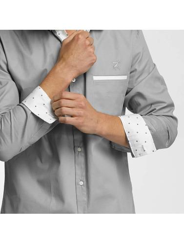Cazzy Clang Hombres Camisa Squares in gris