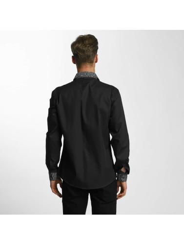 Cazzy Clang Herren Hemd Plaid in schwarz