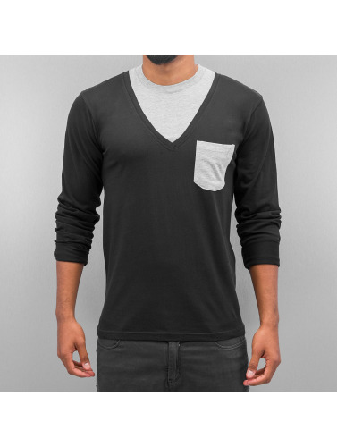 Cazzy Clang Herren Longsleeve Breast Pocket in schwarz