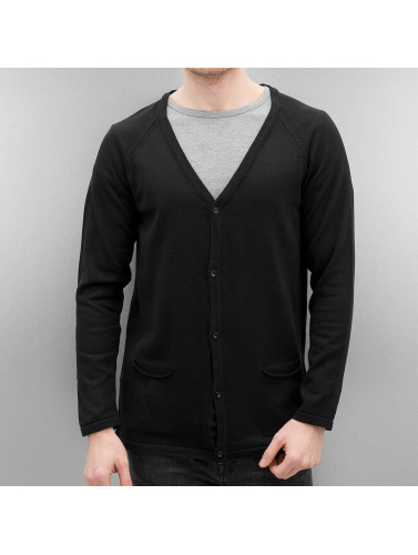 Cazzy Clang Herren Strickjacke Basic in schwarz