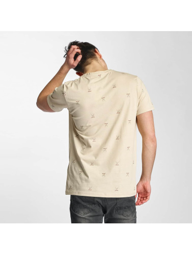 Cazzy Clang Herren T-Shirt Saint Barth in beige