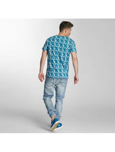 Cazzy Clang Herren T-Shirt Capri in blau
