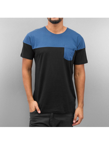 Cazzy Clang Herren T-Shirt Breast Pocket in schwarz
