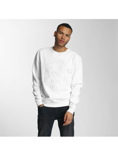 CHABOS IIVII Herren Pullover Palazzo in weiß