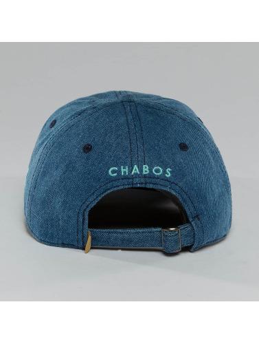 CHABOS IIVII Snapback Cap Pyramid in blau