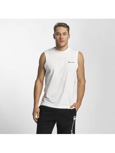Champion Athletics Hombres Camiseta Sleeveless in blanco
