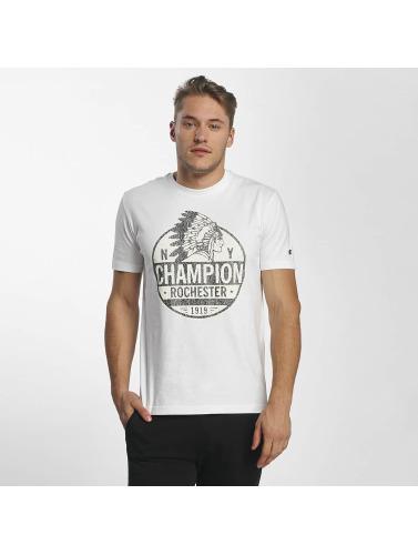 Champion Athletics Hombres Camiseta Rockefeller in blanco
