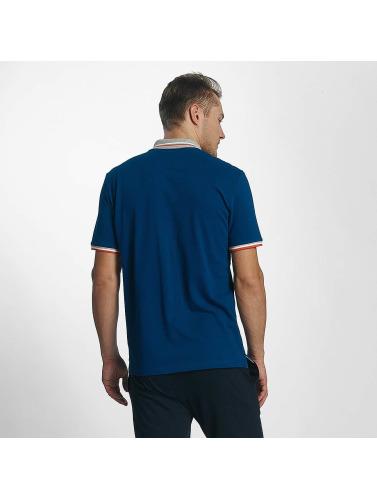 Champion Athletics Hombres Camiseta polo Basic in azul