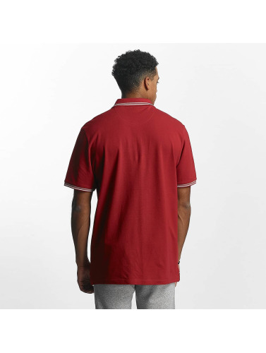 Champion Athletics Hombres Camiseta polo Metropolitan in rojo