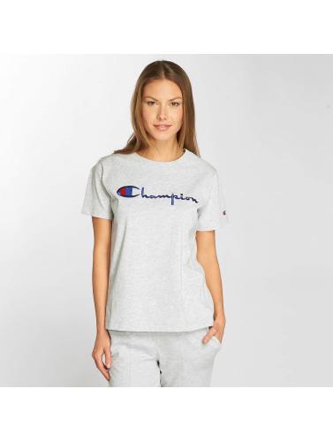 Champion Mujeres Camiseta Classic Script in gris