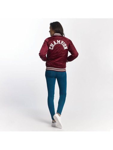 Champion Mujeres Cazadora bomber <small>     Champion </small> <br />  Bomber Jacket Burgundy in rojo