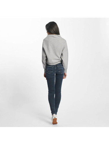 Champion Damen Pullover Cropped in grau