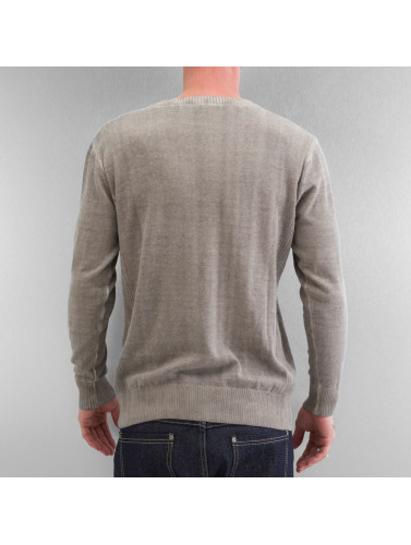 Clang Herren Pullover Oilwashed Knitted in khaki