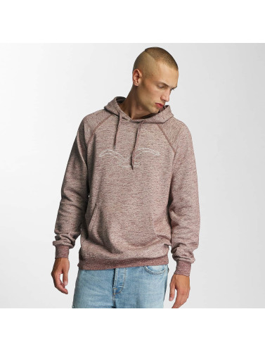 Cleptomanicx Herren Hoody Vintage Embroidery in rot