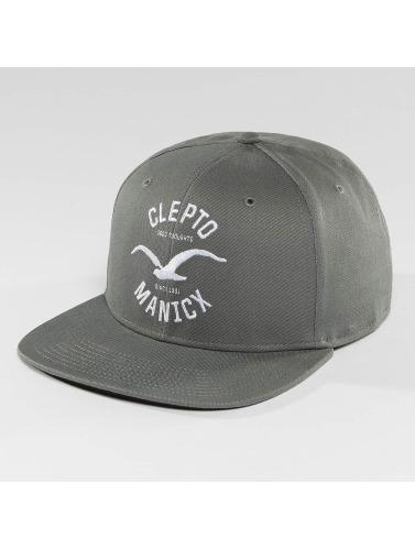 Cleptomanicx Snapback Cap Games in grau