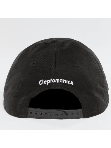 Cleptomanicx Herren Snapback Cap Mini Möwe in schwarz