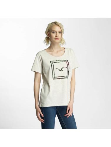 Cleptomanicx Damen T-Shirt Floral Box in beige
