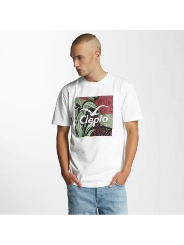 Cleptomanicx Herren T-Shirt Floral Box in weiß
