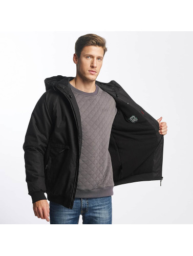 Cleptomanicx Herren Winterjacke Polarzipper in schwarz