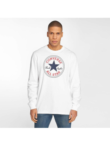 Converse Hombres Camiseta de manga larga Chuck Patch in blanco