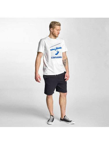 Converse Herren T-Shirt Hanging Chucks Photo in weiß