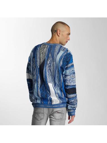 Coogi Herren Pullover Patchwork in blau