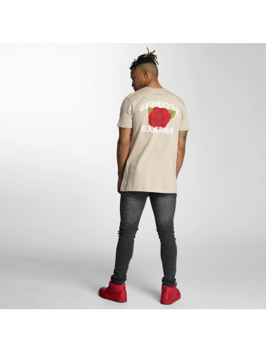 Criminal Damage Hombres Camiseta Rothko in beis