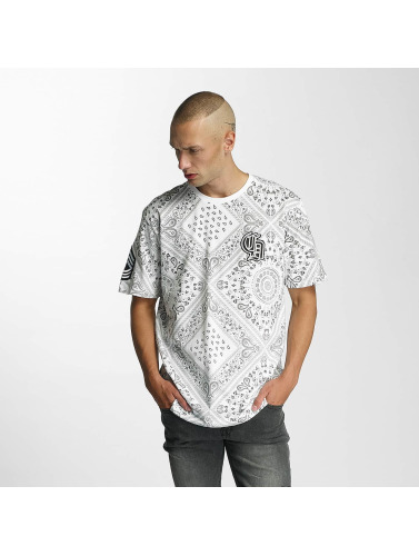 Criminal Damage Hombres Camiseta Side in blanco