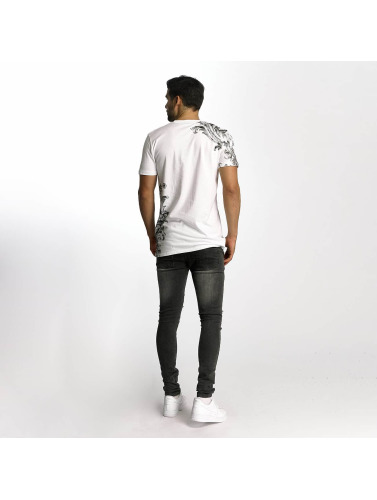 Criminal Damage Hombres Camiseta Paulo in blanco