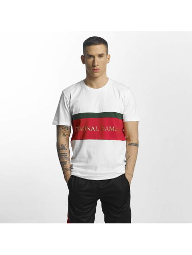 Criminal Damage Hombres Camiseta Dolfo in blanco