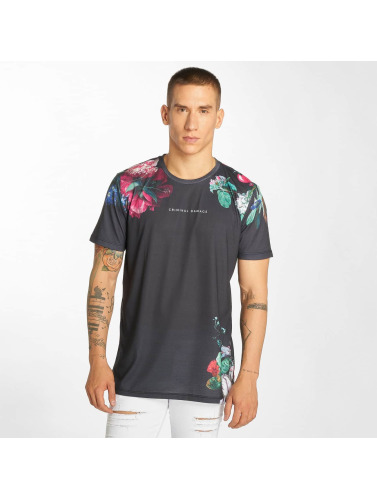 Criminal Damage Hombres Camiseta Siena in gris