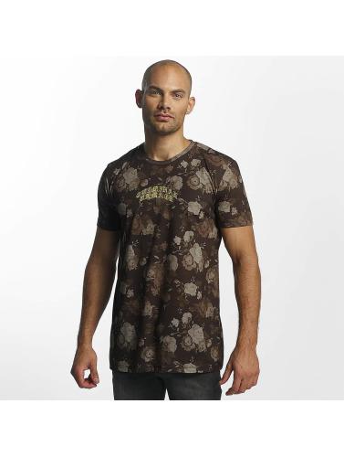 Criminal Damage Hombres Camiseta Vine in marrón