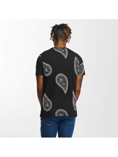 Criminal Damage Hombres Camiseta Rivoli in negro