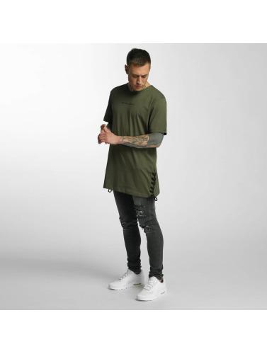 Criminal Damage Hombres Camiseta Lace in oliva