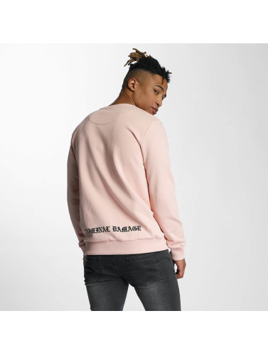 Criminal Damage Herren Pullover Swallows in rosa