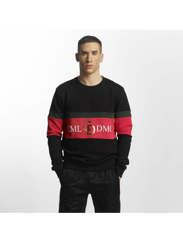 Criminal Damage Herren Pullover Dolfo Logo in schwarz