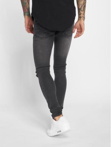 Criminal Damage Herren Skinny Jeans Ripper in schwarz