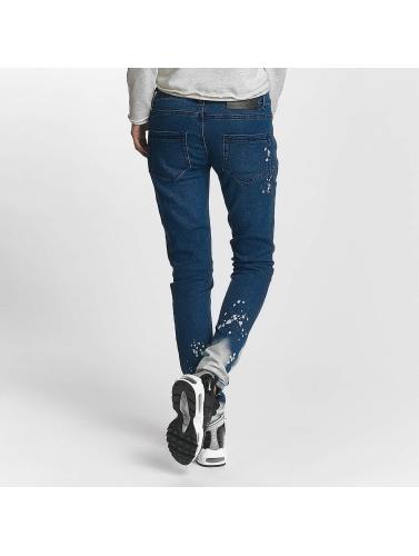 Criminal Damage Damen Straight Fit Jeans Lapis in blau
