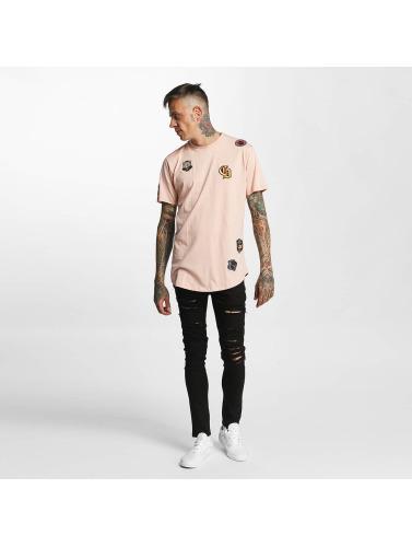 Criminal Damage Herren T-Shirt Emblem in rosa