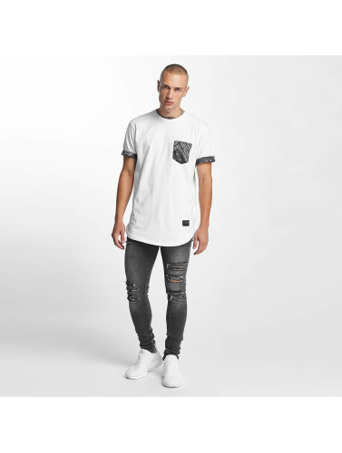 Criminal Damage Herren T-Shirt Side Curve Pocket in weiß