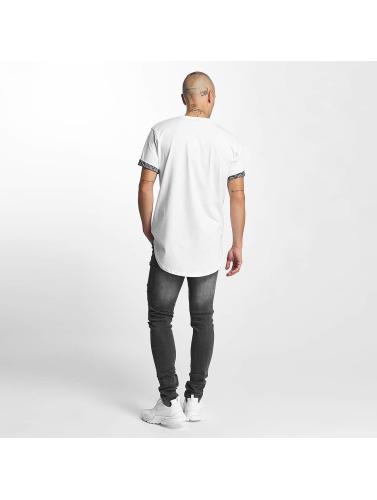 Criminal Damage Herren T-Shirt Side Curve Pocket in weiß