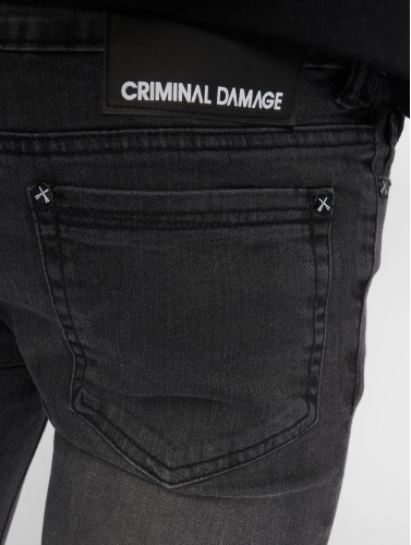 Criminal Damage Hombres Vaqueros pitillos Ripper in negro
