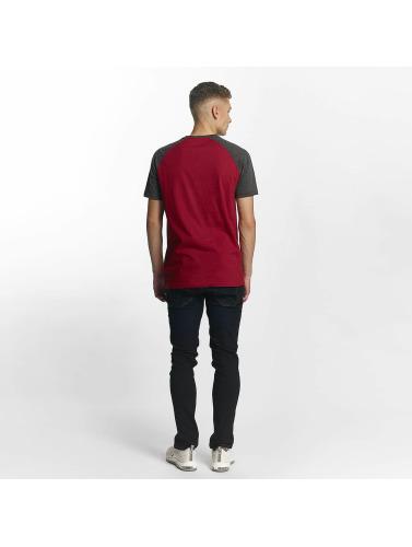 Cyprime Hombres Camiseta Raglan in rojo