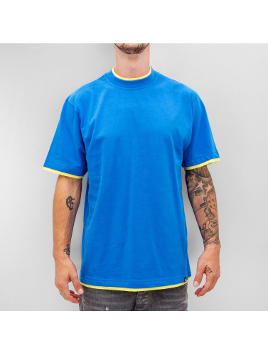 Dangerous DNGRS Hombres Camiseta Two Tone Regular in azul